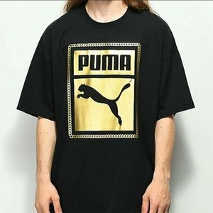 NEW black and gold Puma T-shirt. 100% authentic.
